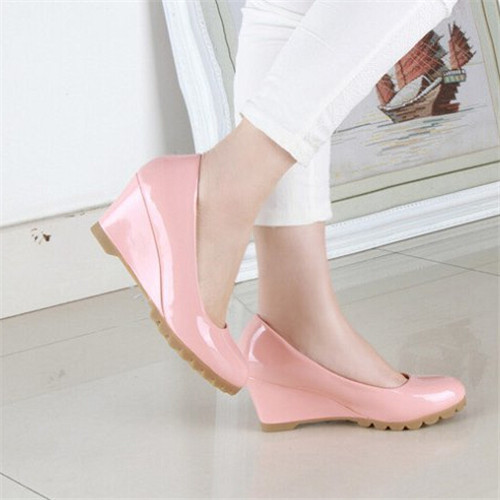 Hot sale spring autumn wedges casual high-heeled casual &business candy color shoes for ladies 20046(China (Mainland))