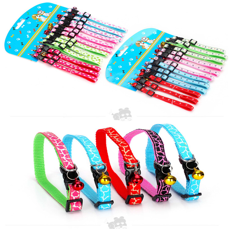 3pcs/lot Printed Bell dog harness animal pet cat collar puppy collars for small dogs acessorios para cachorro harnais pour chien(China (Mainland))