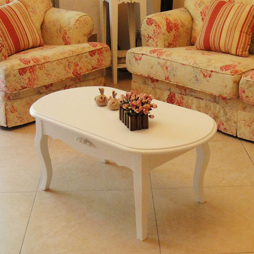 New Coffee Table European Pastoral Modern Minimalist Fashion Ivory White Coffee Table A Few