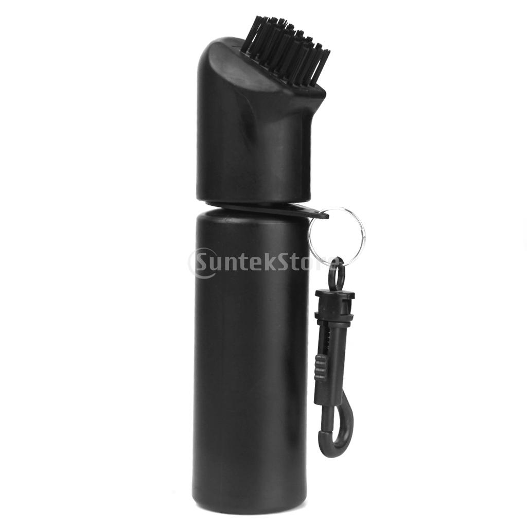 Black Golf Iron Club Ball Brush with Water Bottle 150ML Cleaning Golf Club Ball(China (Mainland))