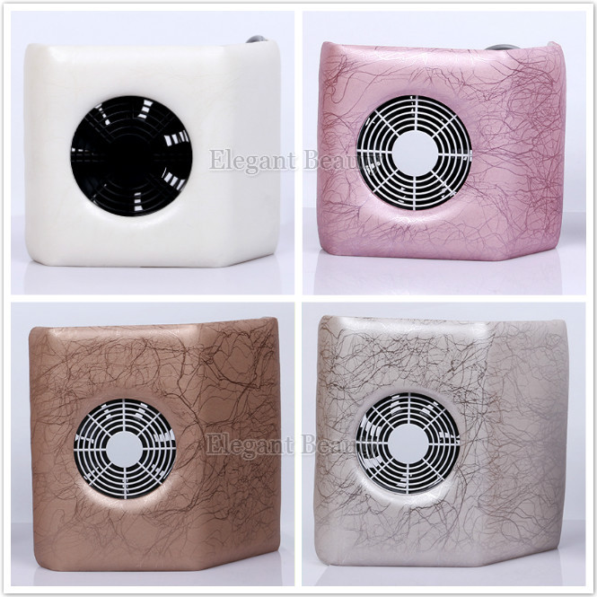 wholesale Professional nail dust equipment 25W Electric Nail dust collector Suction Vacuum + fan 110-220V 6pcs/lot free shipping(China (Mainland))