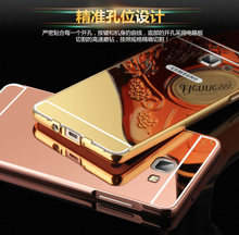 Mirror Plating Aluminum Bumper+Acrylic Case Samsung Galaxy 2015 A3 A5 A7 A8 E5 E7 J1/ACE J2 J5 J7/2016 J1 J3 J7 - Cosplay Group Store store