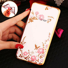 Luxury Rhinestone Soft Case Huawei P8 P7 P9 LITE G8 / Mate 7 8 Honor 6 4X 5X 7i 4A 4C 5C NEW Flowers Silicon Cover Cases - ToolTech service centre store