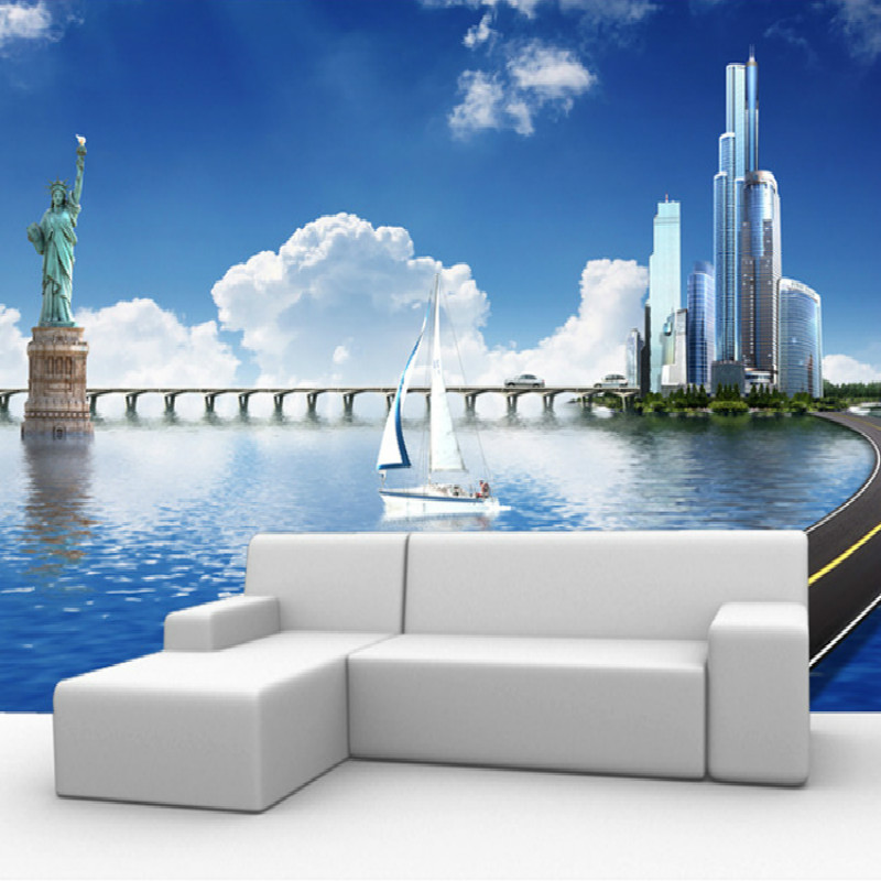Popular cityscape wall murals buy cheap cityscape wall for Cityscape wall mural