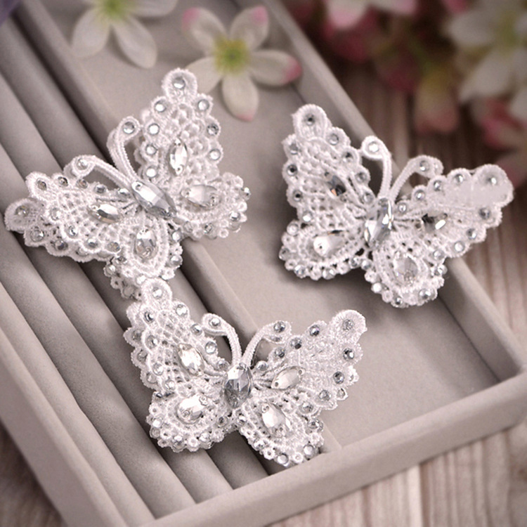 Cii lace bow butterly hairpin headdress wedding hair jewelry accesories Korean bride hairwear wholesale(China (Mainland))