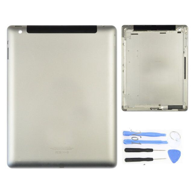 3 Version For Apple iPad 4 Back Battery Cover Metal Case Housing Sliver+Tools(China (Mainland))