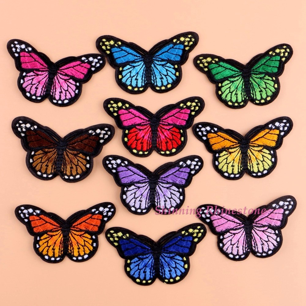 12 Pcs Clothes Patches for Bailing Up or Sewing Butterfly Patch Sticker DI I5G1