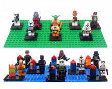 2016 New Hot 8pcs/lot Star Wars Minifigures Building Blocks Sets Star Wars Figures Bricks toys Compatible with Lego movie