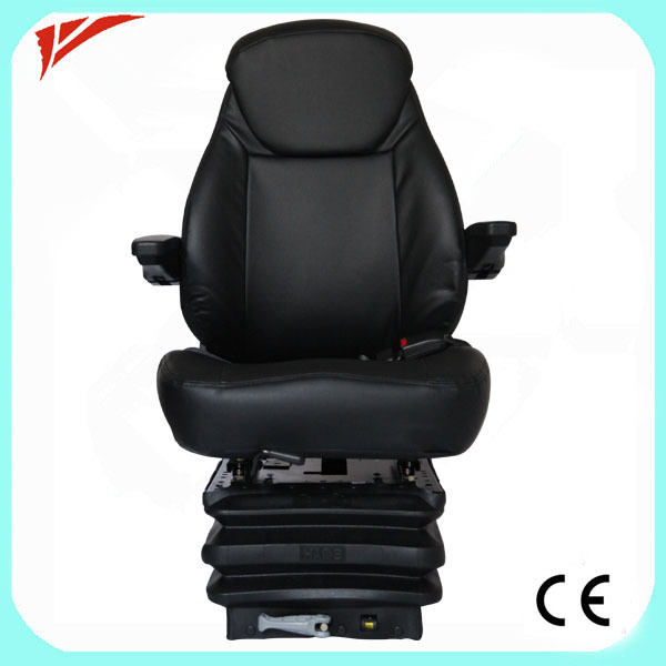 Luxury comfortable air suspension special turning black boat seat(China (Mainland))