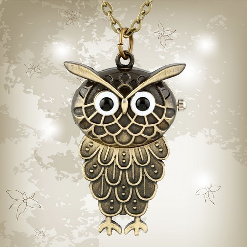 2014 Hot Sale Fashion New Men Women Owl Watches Quartz Retro Pocket Watch Faith Personality For Party Gifts(China (Mainland))