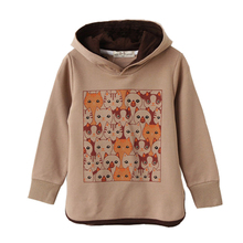 Free Shipping Kids Hoodies Cotton Children Spring Autumn Cothes Full Sleeve Cartoon Pattern Girls Hoody Clothing(China (Mainland))