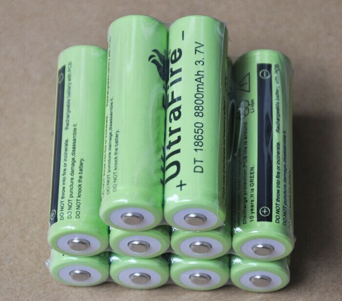 Аккумулятор 30% OFF ultrafire 10pcs/lot 3.7V 8800MAH 18650 li/ion 18650 /led ICR18650