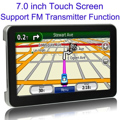 7.0 inch TFT Touch Screen Car GPS Navigator, Free 4GB TF Card and Map, Voice Broadcast, FM Transmitter, Built-in speaker(China (Mainland))