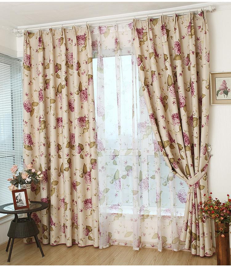 envo libre cortinas de las ventanas para el dormitorio floral apagn tratamiento de la ventana rstica cortinas duplex impres