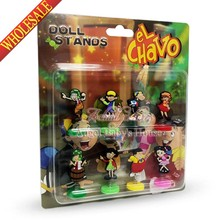 Novelty 8pcs/lot EL Chavo Action Figure spring doll toy home decoration Travel Accessories exquisite toy party favors/gifts(China (Mainland))