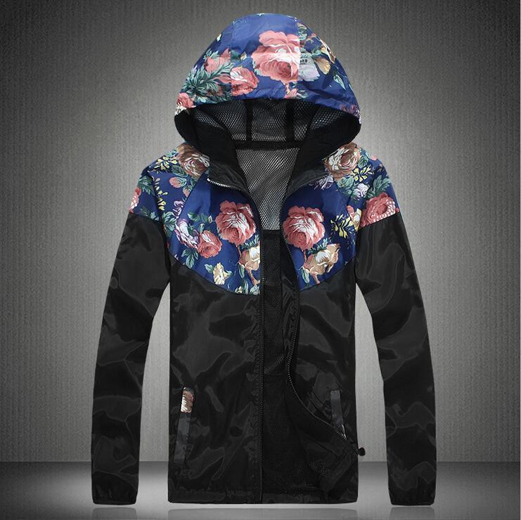 Men Casual Slim Fit Patchwork Hoodie Tracksuit Harajuku Sweatshirt Brand Sportswear Windcoat Male Thin Jacket Coat 3 Color M-5XL