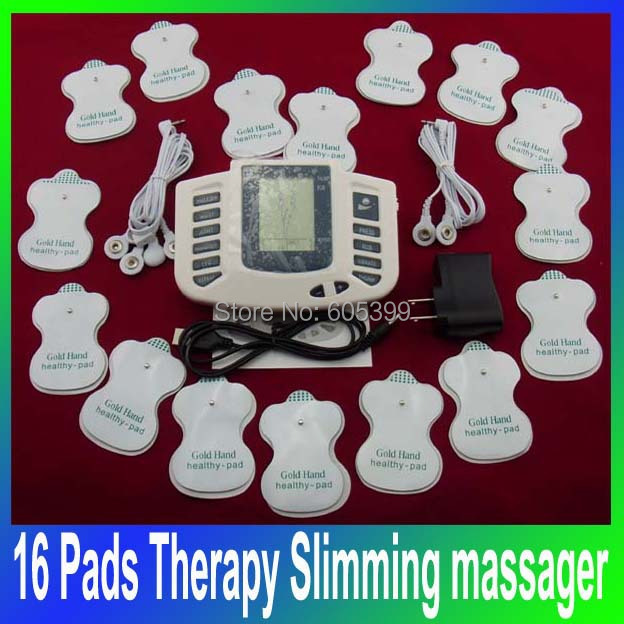 Electrical Stimulator Full Body Relax Muscle Therapy Massager,Pulse tens Acupuncture Health care beauty massage JR-309+16 pads(China (Mainland))