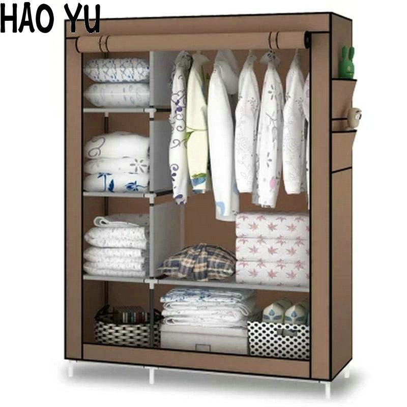 When the quarter wardrobe DIY Non-woven fold Portable Storage Cabinet(China (Mainland))
