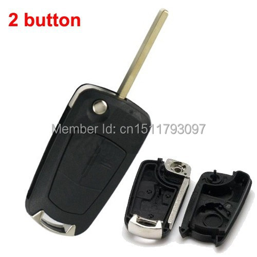 Blank Shell for Vauxhall Opel Vectra Flip Key 2 Button with free shipping(China (Mainland))