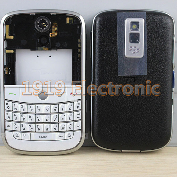 Full Complete Mobile Phone Housing Cover Case With English Or AZERTY Keyboard Keypad For BB BlackBerry 9000+Tracking(China (Mainland))