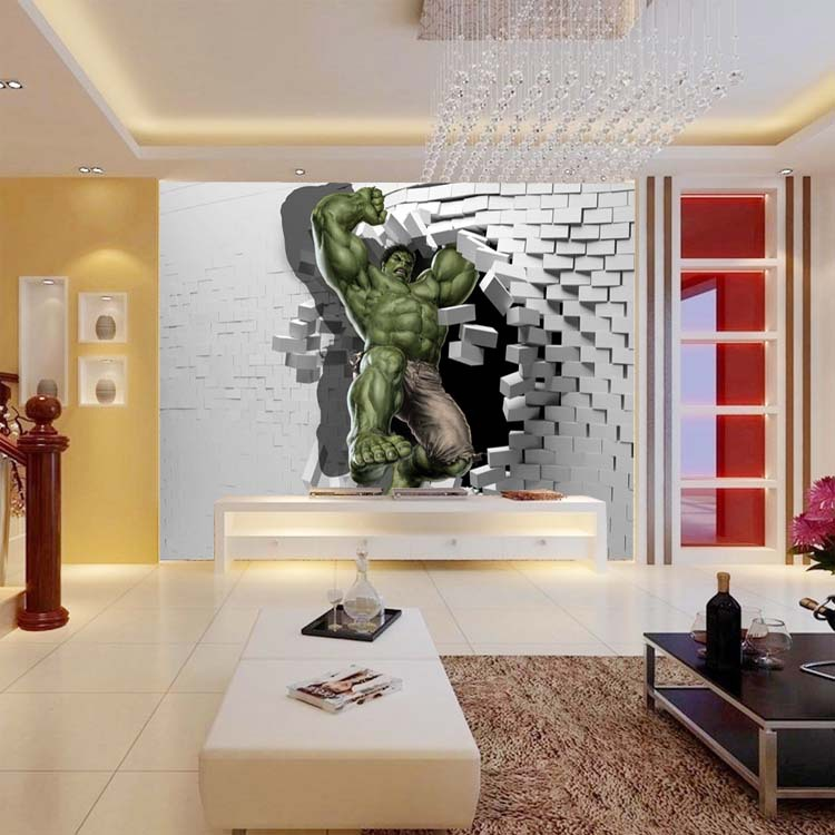 Wallpaper custom picture more detailed picture about 3d for 3d wall mural painting