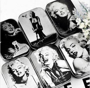 Free Shipping Vintage Style Merilyn Monroe Storage Tin Box Gum Candy Box Coin Case Jewelry Pill Box Wholesale(China (Mainland))