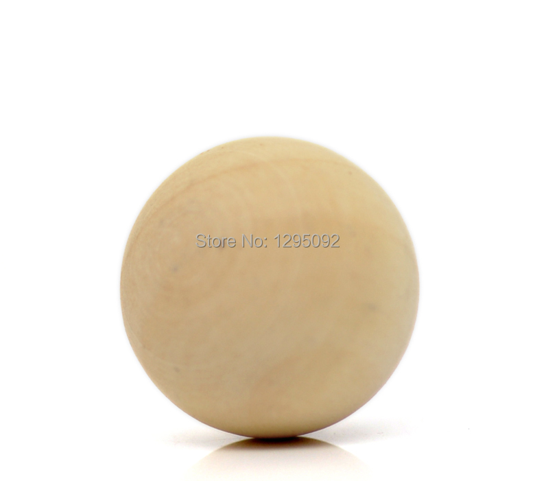 30Pcs Round Ball Beads No Hole Wooden Charms Natural Wood Jewelry Findings 50mm<br><br>Aliexpress