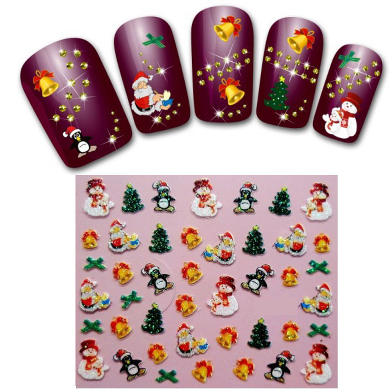 Гаджет  176 Pcs Christmas Cartoon Nail Art Water Transfer Stickers Decals Decoration Cute Manicure Tips DIY Nail Tools H010-6 None Красота и здоровье