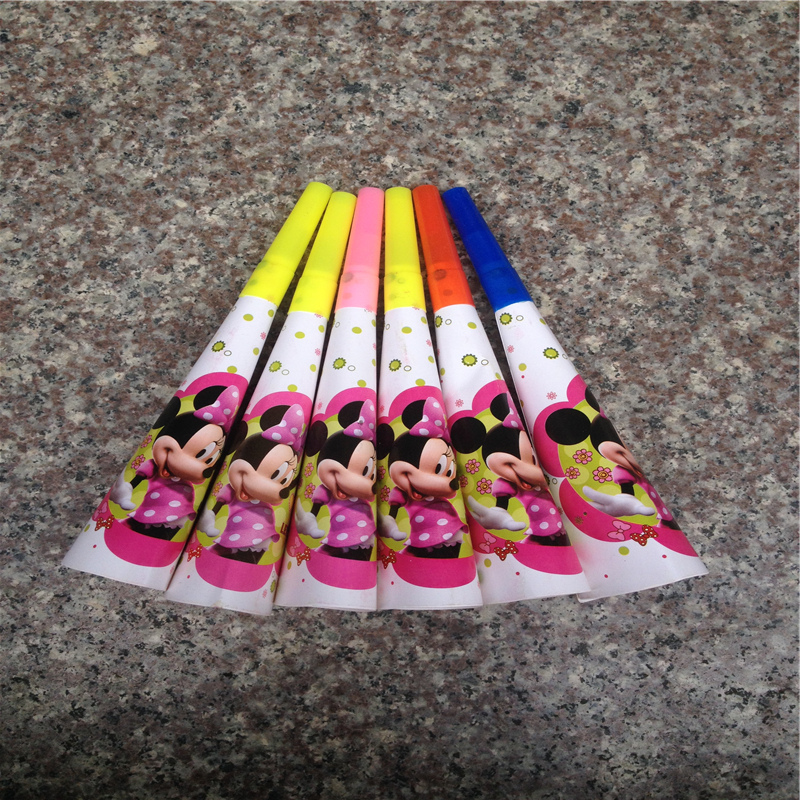 High Quality Minnie Mouse party Noise Maker Minnie horn kids birthday party supplies for girl party toys 6 pieces E159(China (Mainland))