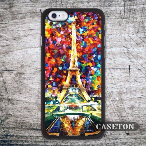 Eiffel Tower Painting Case For iPhone 7 6 6s Plus 5 5s SE 5c and For iPod 5 High Quality Lovely Classic Protective Cover