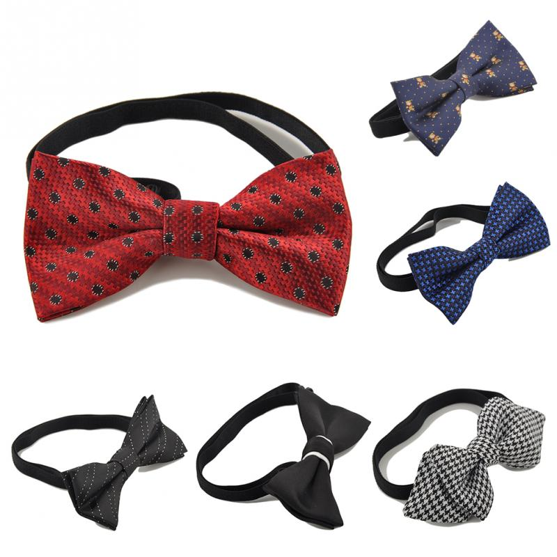 Free Shipping Children Bow Tie Baby Boy Kid Accessories Solid Color Tuxedo Neck tie bow flower Girl Accessory(China (Mainland))