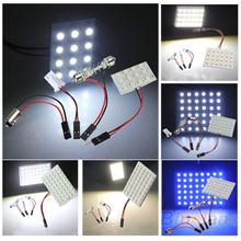 12/24/36/48 LED 3528 SMD Car Light Panel T10 Festoon BA9S Adapter