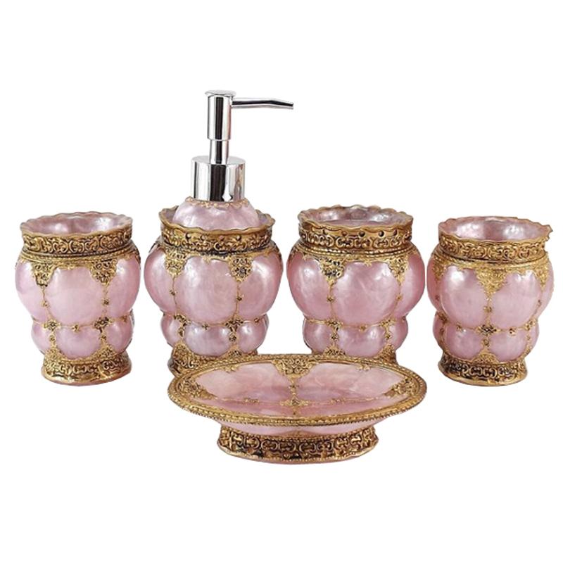 High quality delicate elegant bathroom accessories set for Beautiful bathroom sets