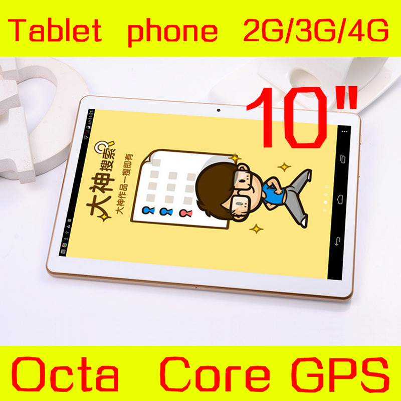 """10"""" tablet IPS Screen 1280*800 Octa Core 3G 4G Phone Call 4GB/128GB Dual SIM 5.0MP Android 5.1 GPS Tablet PC Exempt postage(China (Mainland))"""