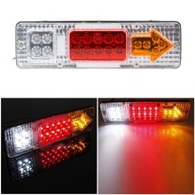 1 Piece Waterproof Car Led Rear Lights 12V Truck Trailer Caravan Van Rear Tail Stop Reverse Indicator Turn Light Lamp(China (Mainland))