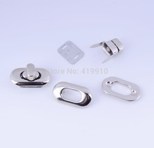 Free Shipping-10 Sets Silver Tone Handbag Bag Accessories Purse Twist Turn Lock 19x35mm J1840(China (Mainland))