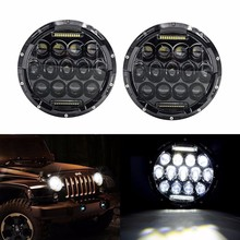 Promotion! 75w Headlamp 7 Inch Wrangler Led Headlight DRL Jk Tj Fj Cruiser Trucks Road Lights - Transauto store