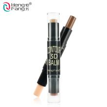 2in1 Dual Dark Concealer Bronzer Highlighter Stick 3D Contour Balm Shadow Base Cosmetic Face Primer Makeup Cream Waterproof