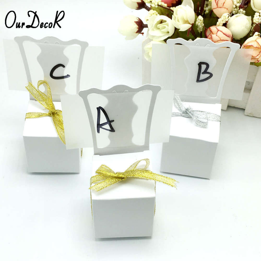 Wholesale Chair Shape Place Card Holder Wedding Candy Box Gift ...