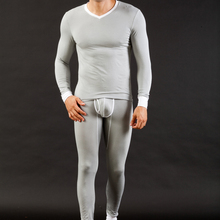 Buy Brand WJ Men Thermal Underwear Soft Modal Long Johns Cueca Comfy Sleepwear Suit Tops Shirts+Warm Pants Gay Winter Warm Leggings for $22.70 in AliExpress store