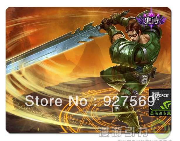 Buy The Best Quality Cheap Commando Garen Skin Mouse Pad 300*250*5mm Free Shipping(China (Mainland))