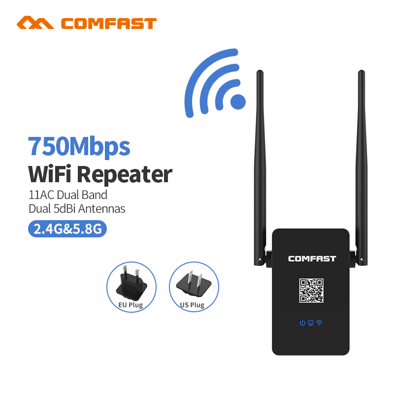 New! COMFAST CF-WR750ACV2 Wireless WIFI Repeater 750Mbps Routers Dual Band 5GHZ 802.11AC Wi fi Roteador Extend Wifi Amplifier(China (Mainland))