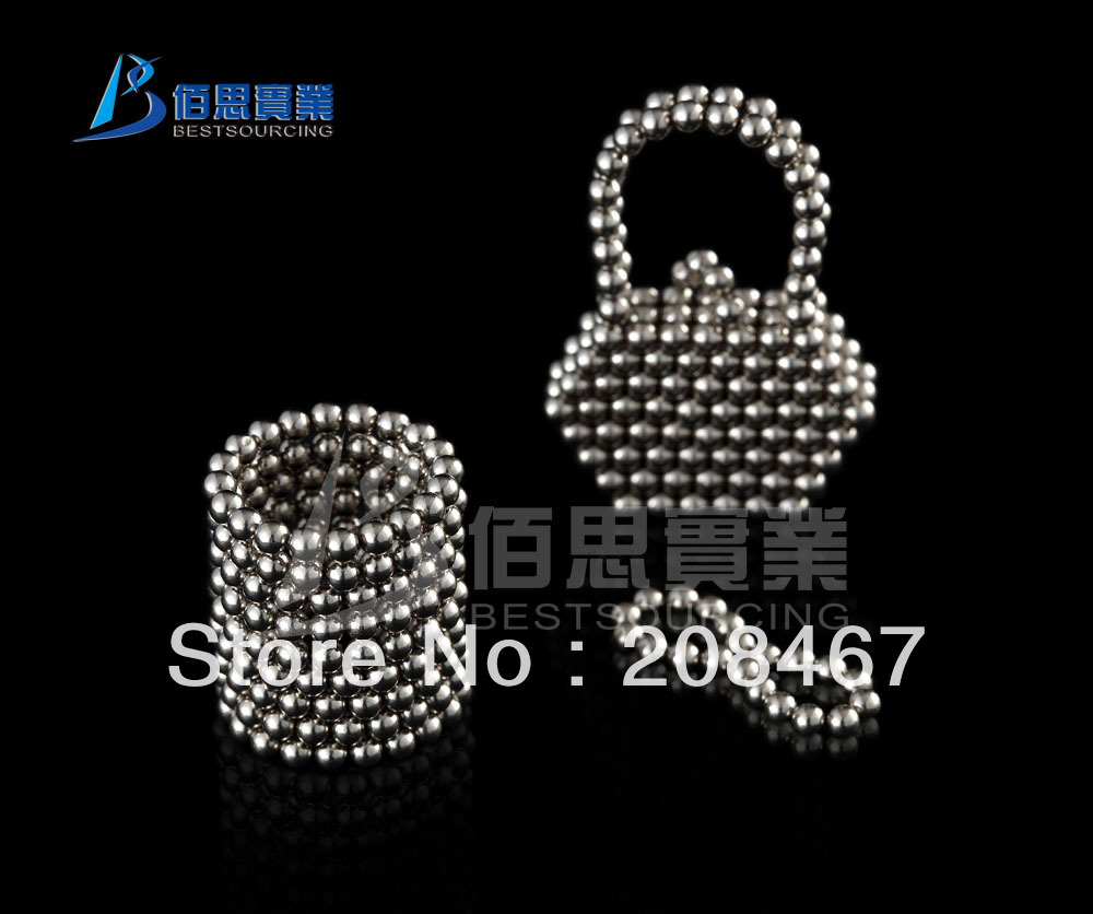 WHOLESALE ATTRACTIVE 3mm 216 sliver color Neo magnetic Cube Educational Buckyballs(China (Mainland))