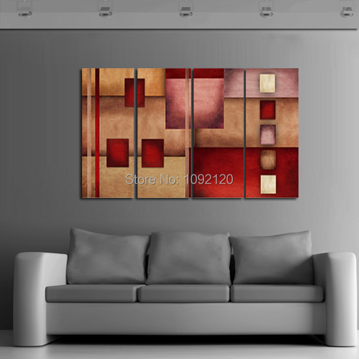 4 Piece Wall Art Modern Abstract Picture Wishes Oil Painting On Canvas For Living Room Home Bar Decoration Pictures On The Wall