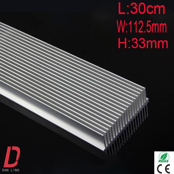 China New products 1pcs high power heatsink 300*112.5*33mm sliver led street light industry aluminum(China (Mainland))