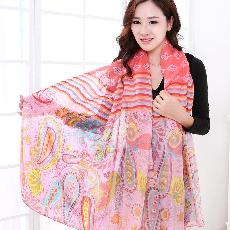 Cachecol Feminino Real Horse Korean New 2015 Cotton Voile Long Autumn Winter Scarves Shawl Female Ladies Chiffon Georgette Wraps(China (Mainland))