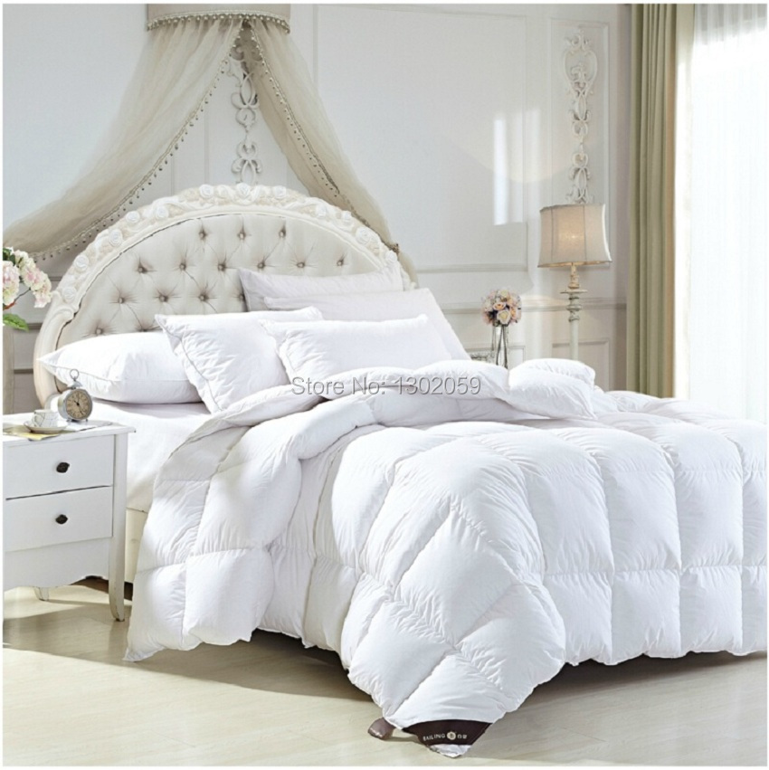 Factory Sale 95% European Whites Duck Down Quilt Comforter Doona Blanket King Queen Full Twin Or Make Any Size And Weight(China (Mainland))