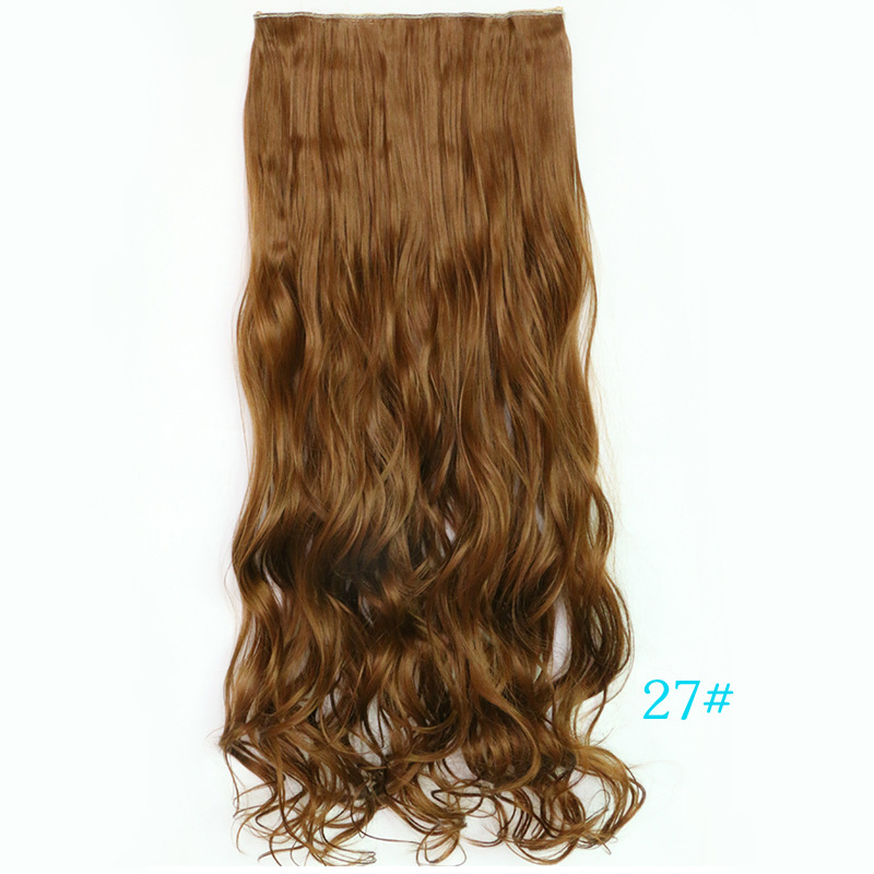 2015 Real Braiding Hair Yiwu Wig Factory Wholesale And Explosion Of Long Hair Clip In Extensions Five Seamless One-piece Piece(China (Mainland))