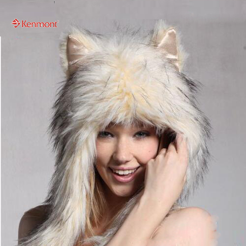 New Arrival Fashion Novelty Winter Hat, Funky Animal-like Hat  With Package 4811-36 Beige