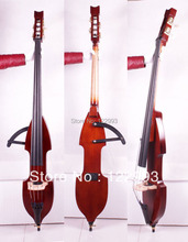 3/4 new Electric Upright Double Bass Finish silent SOlid wood Powerful Sound(China (Mainland))